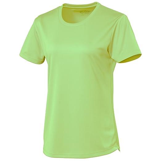 Shirt Damen Sport UnifarbenmediumleuchtgrünM T Cool Just dxeoCB
