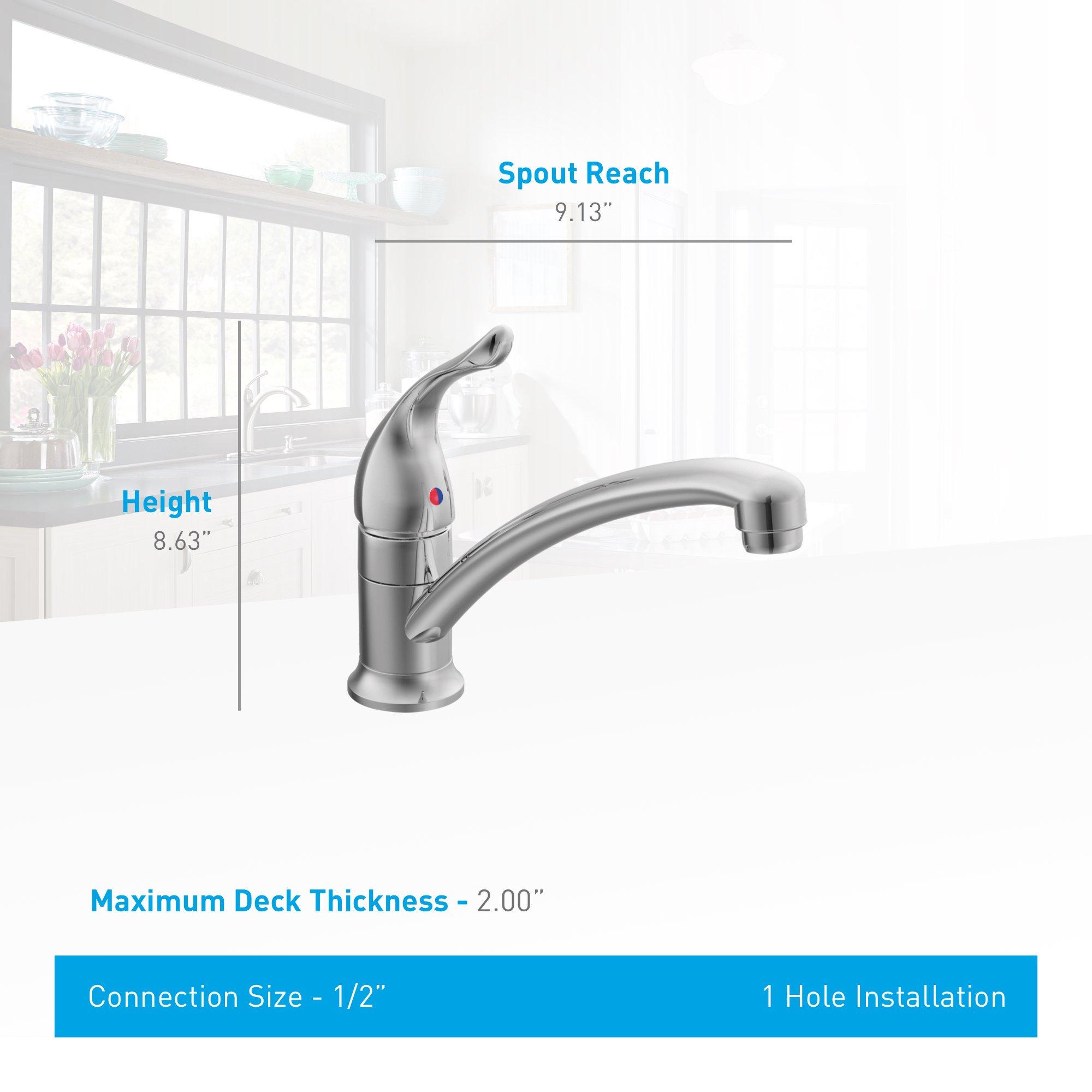 Moen 7423 Chateau One-Handle Low Arc Kitchen Faucet, Chrome by Moen