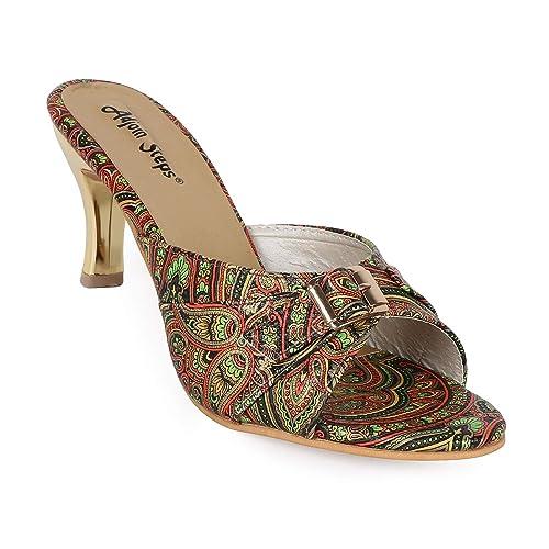 969f7bd1e39 Adjoin Steps Printed Kitten Heels Women s and Girls  Buy Online at ...