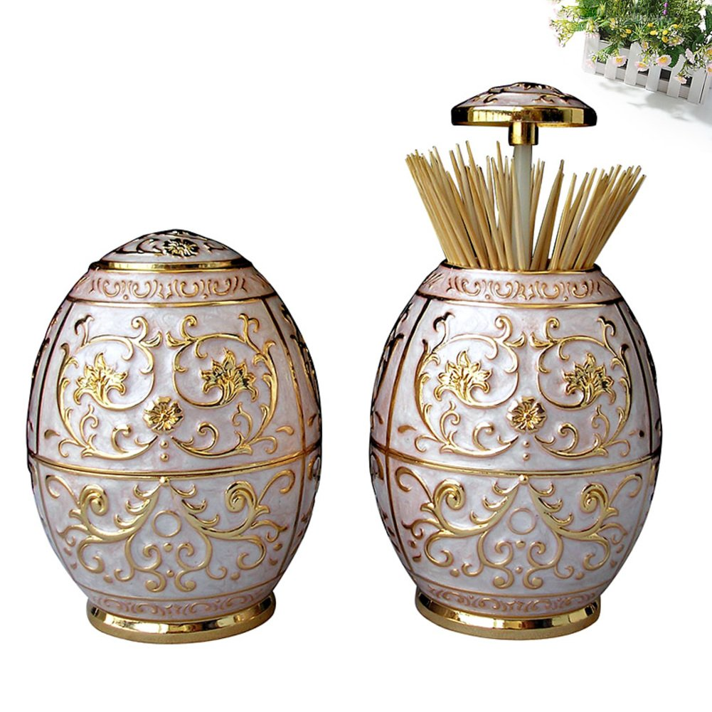 European-style pressing style toothpick automatic toothpick box fashion creative living room toothpick barrel-A by Wang's