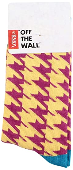 5cecdff0c158 Amazon.com  Vans Girls  Kaley Crew Graphic Socks-Mustard Purple-1-6 ...