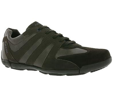 GEOX U EDGWARE A Véritable sneaker en cuir pour hommes Marron U743BA 022BC C6024 wHOag7GCmE