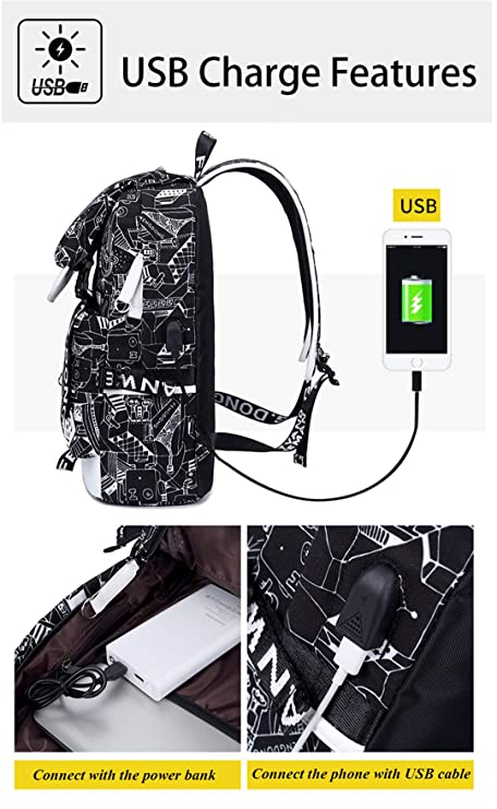 Amazon.com   Emoji Travel Pompom Student Bag Teenage Girls Best Travel Laptop Work Backpacks Female Bagpack white face bag 42X30X16cm   Backpacks