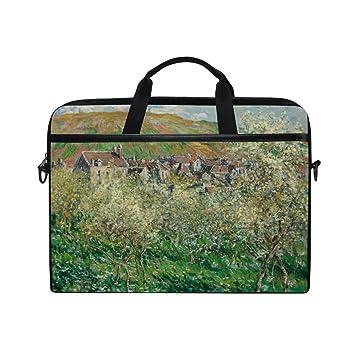 Ahomy Monet Mountain Village pera de árbol Pintura al óleo 14 – 15,4 Pulgadas