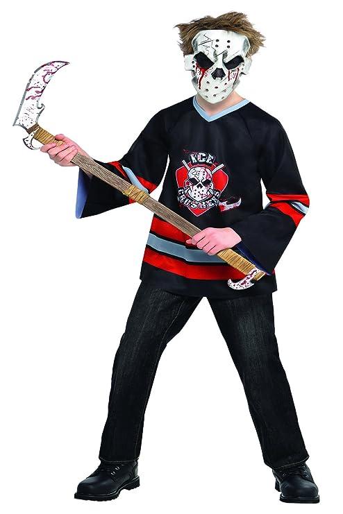 Amscan - Máscara de hockey para disfraz (niños de 8-10 años),