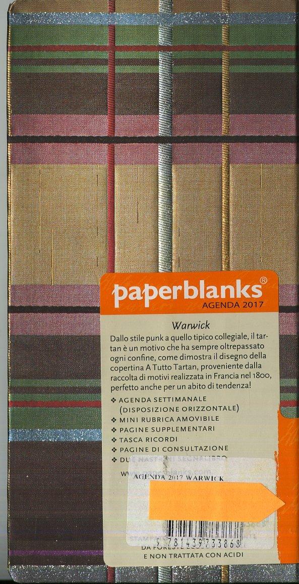 Warwick Slim- Paperblanks 2017 Weekly Planner (3.5 x 7 Horizontal)