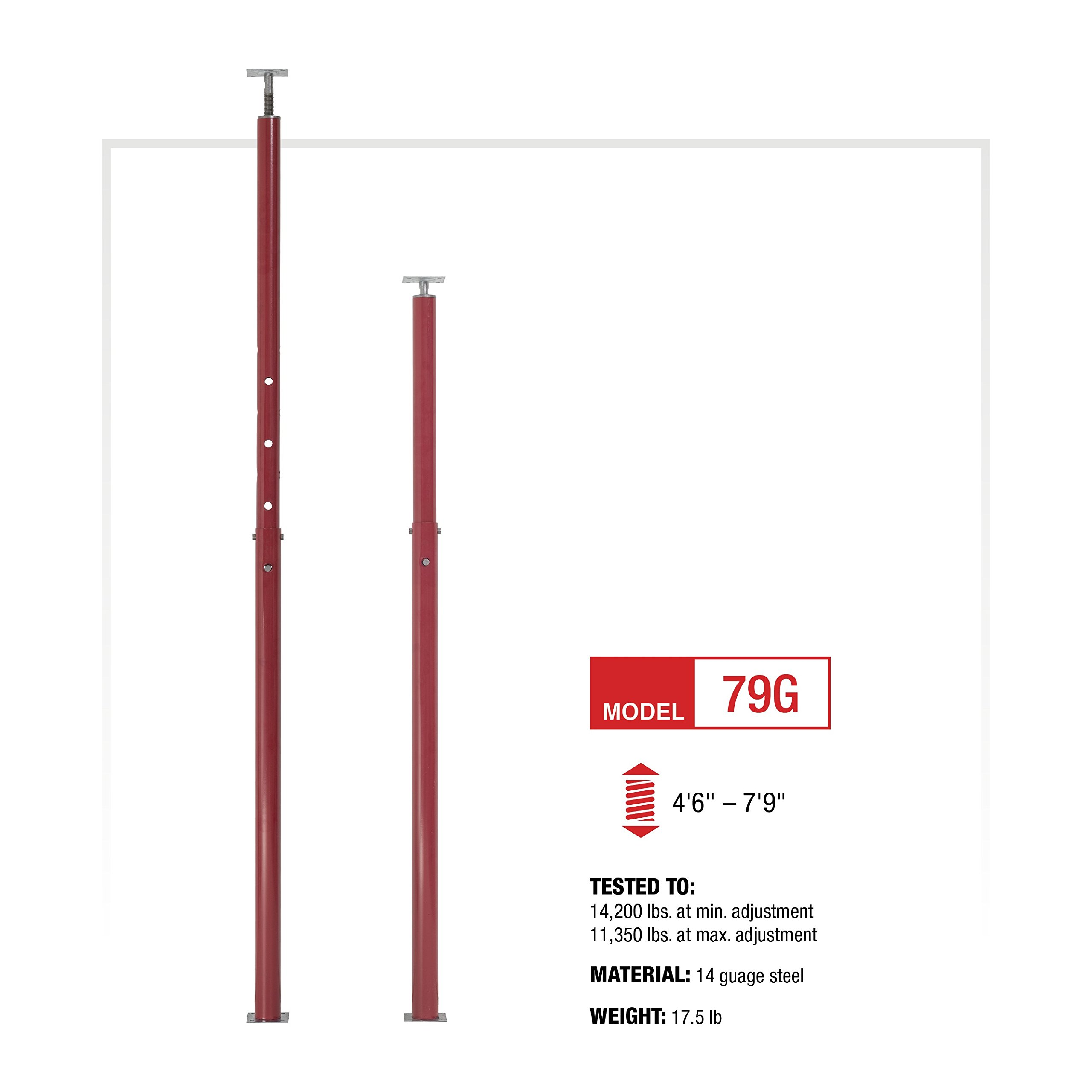 Grow Co. Adjustable Floor Jack - 14,200-Lb. Capacity, Model# 79G