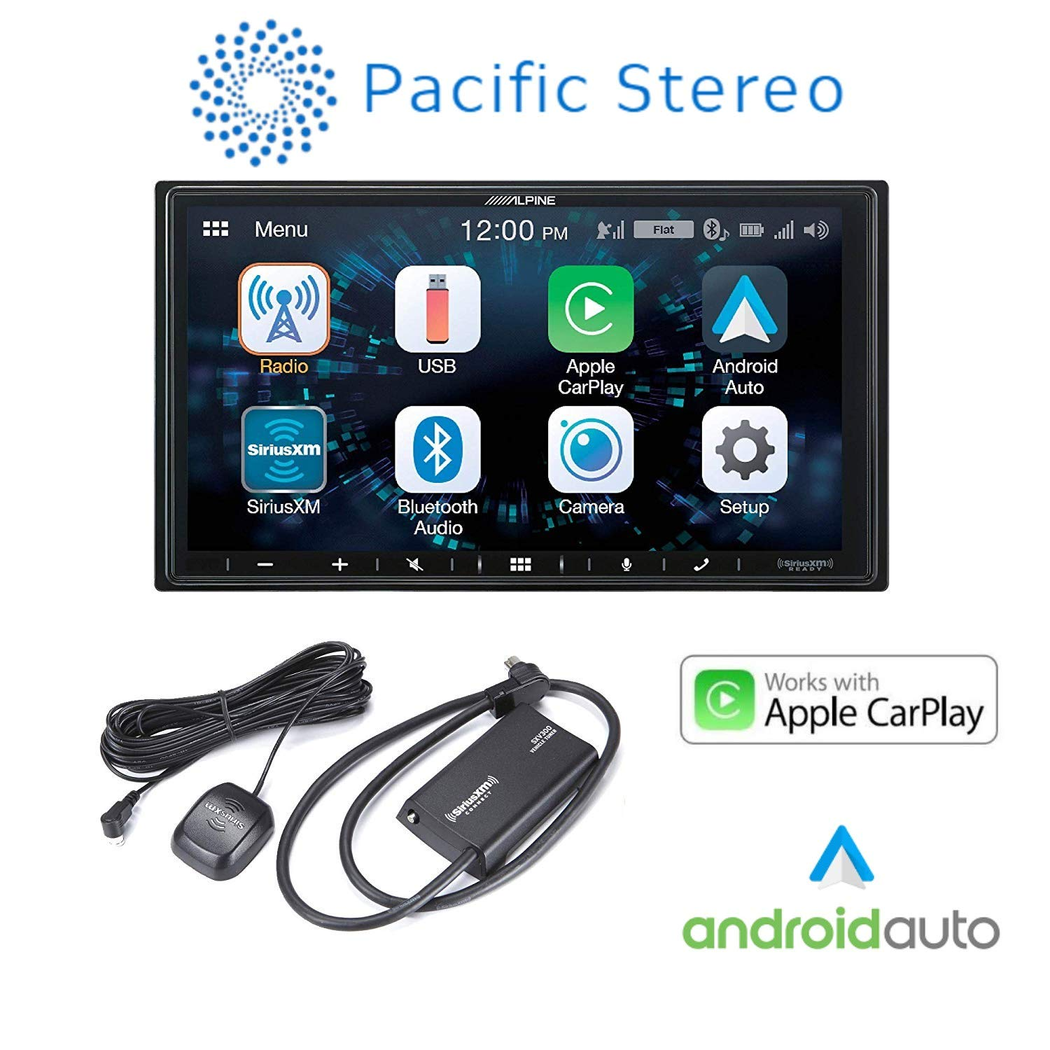 Alpine iLX-W650 Compatible with CarPlay & Android Auto - Includes SXV300V1 Sirius XM Tuner by Alpine