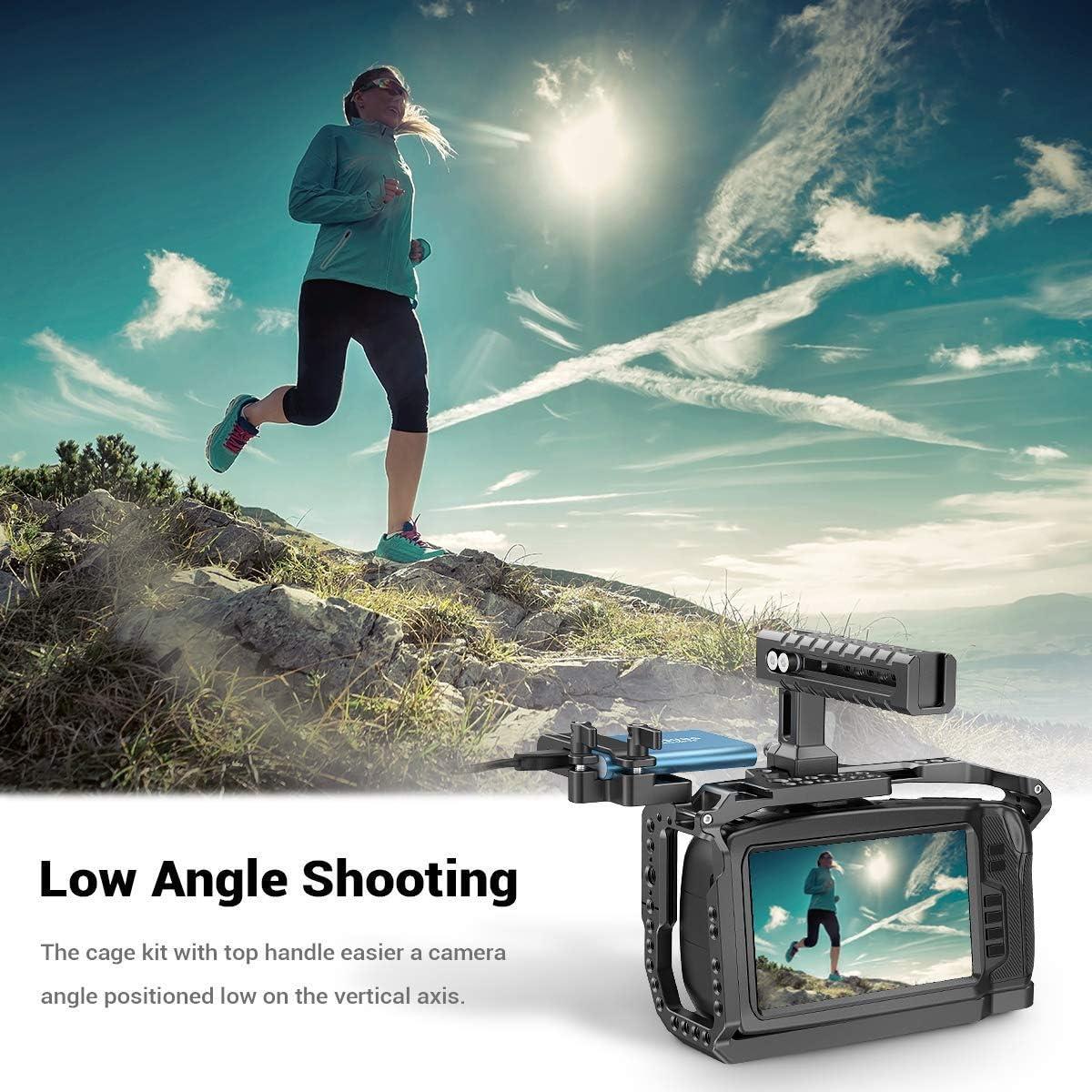 KCVB2419 Compatible con BMPCC 4K y 6K SMALLRIG Cage Kit para Blackmagic Design Pocket Cinema Camera 4K y 6K
