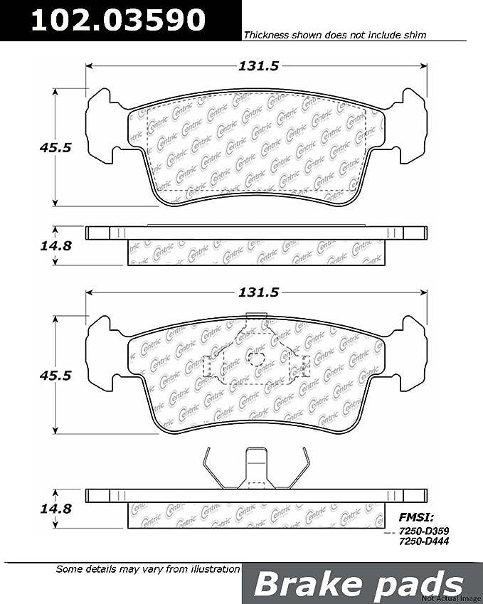 Centric Parts 102.03590 102 Series Semi Metallic Standard Brake Pad