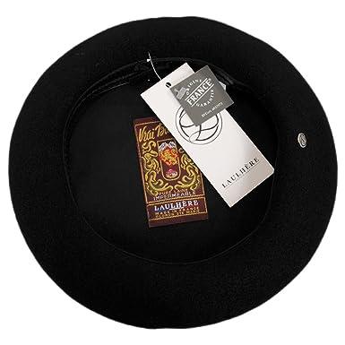 a5d9e0750e8 Laulhère VRAI Wool Basque Beret - Black at Amazon Men s Clothing store