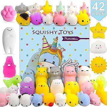 Mini Squishies Kawaii Package Set Mochi Squishy Toys Assortment of Cute