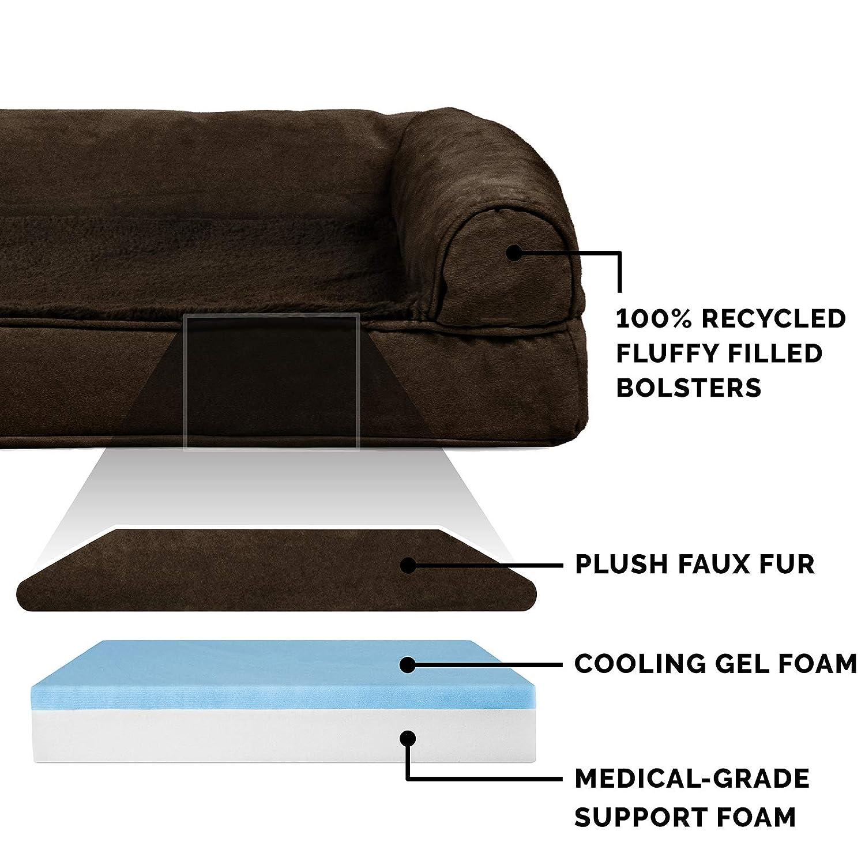 Amazon.com: FurHaven - Cama para mascotas con diseño de sofá ...