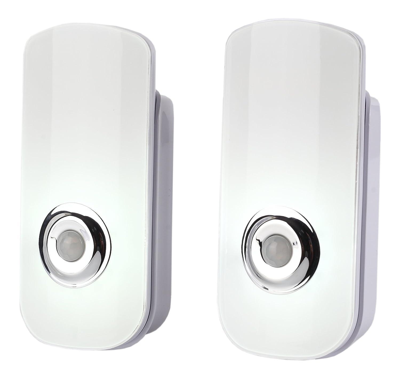 bonashi LEDモーションセンサーナイトライト、充電式緊急電源障害ライト、ポータブル懐中電灯トーチライト BY-118 B074SJK1DT 11485 2-pack With White Light 2pack With White Light