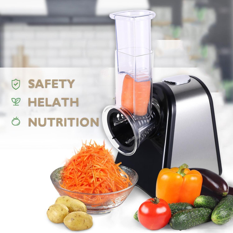 Kindsells Professional Electric Slicer Shredder Salad Maker Machine Food Shooter Multifunctional Vegetables Slicer Machine (US STOCK)
