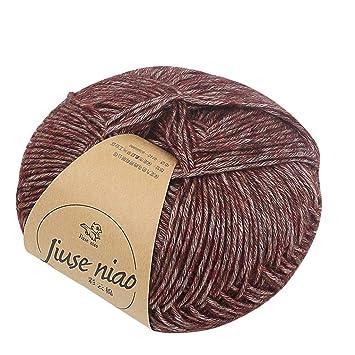 TwoCC-Lana,paquete esencial de hilados de punto de lana de punto ...