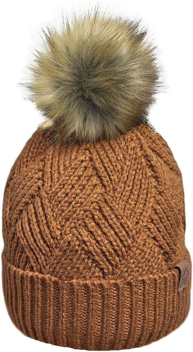 BBAGG Berretto Invernale Caldo da Donna Berretto Invernale Grande Pom Pom Cappello Bobble Berretto da Sci Lavorato a Maglia Cappello Skullies Cappelli Sportivi allaperto