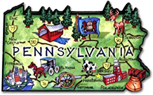 Pennsylvania the Keystone State Artwood Jumbo Fridge Magnet