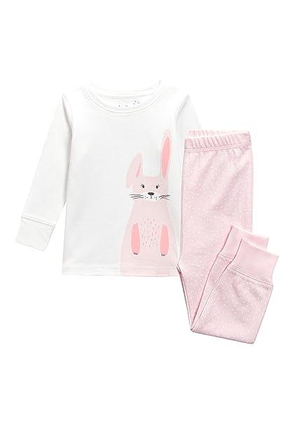 next Niñas Pijama De Diseño Abrigado con Motivo De Conejito (9 Meses - 6 Años