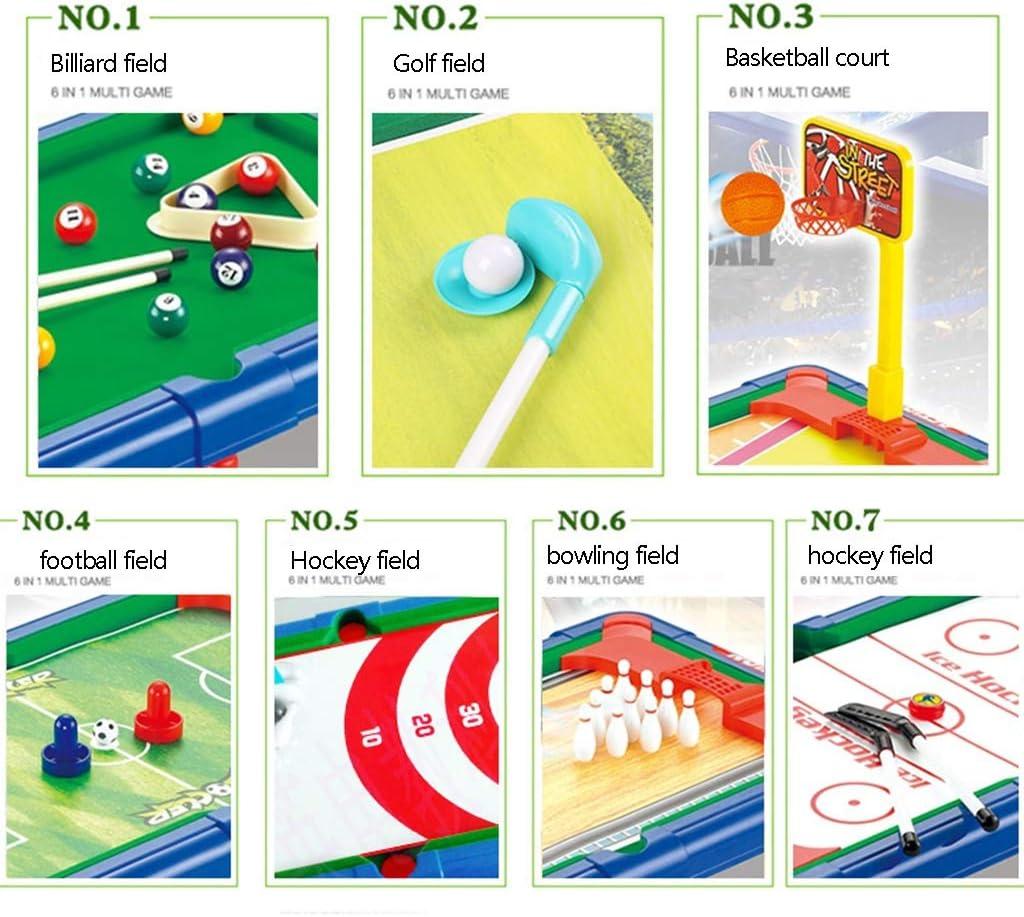 Mesa de billar Mini mesas de Billar Mesa De Plástico De Los Niños Actualizados Juegos Fresco Interior Niños Y Niñas Regalos De Cumpleaños 7-en-1: Amazon.es: Hogar