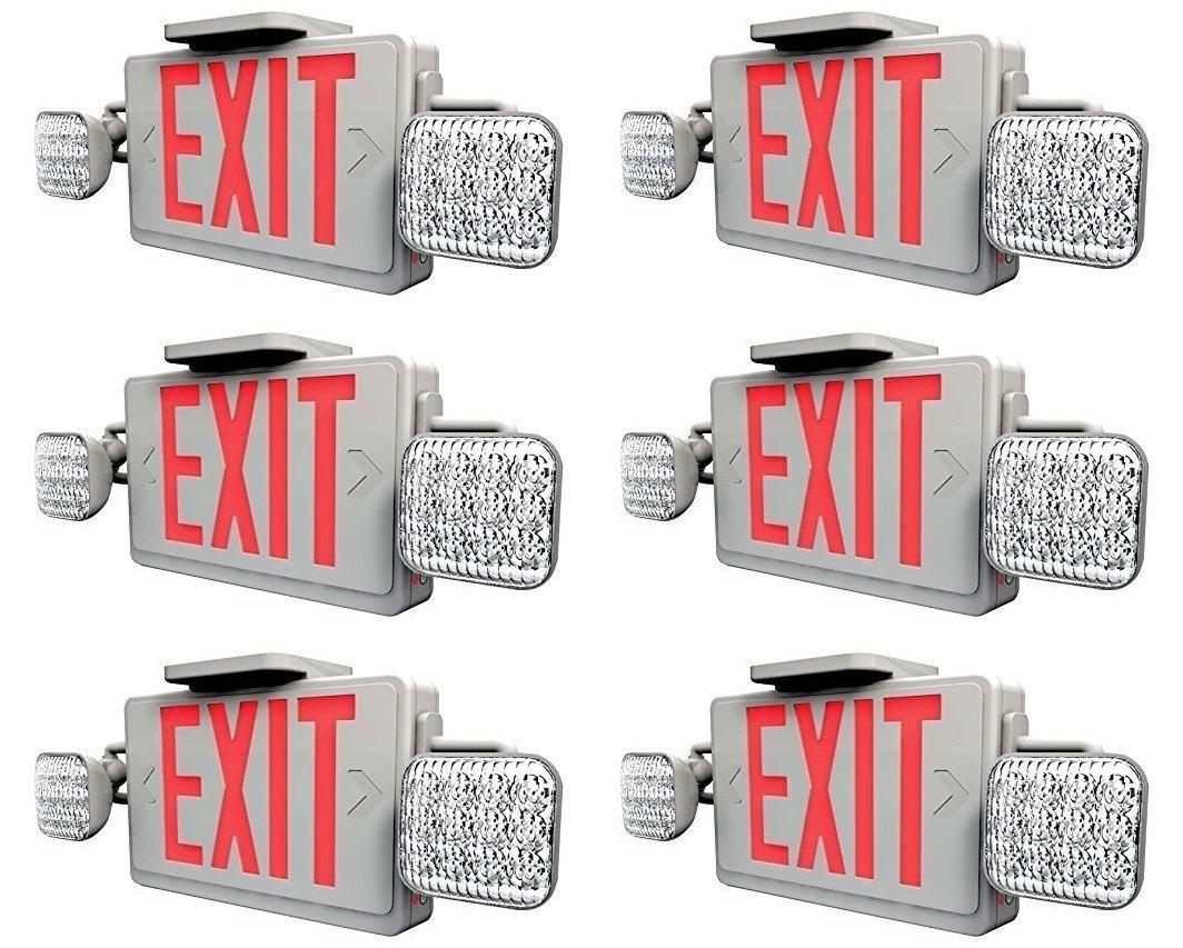 Amazon.com: Ciata Lighting - Señal de salida LED roja y luz ...