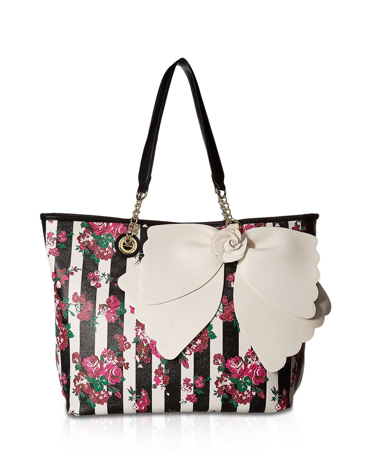 Betsey Johnson Women's East/West Tote with Pouch Floral Handbag