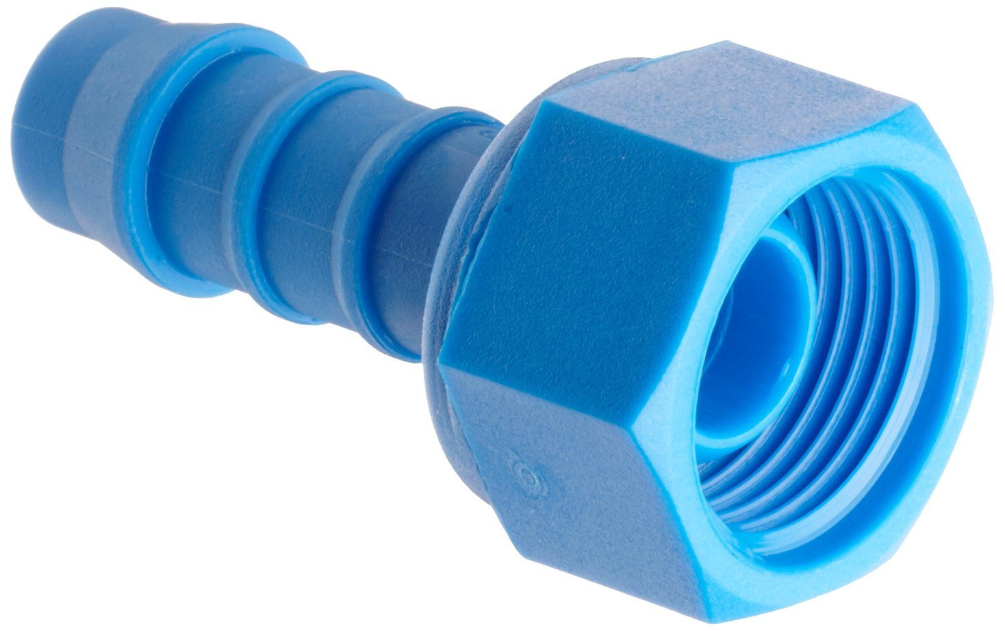 Quickun 3//16 Hose Barb Thru-Bulk Bulkhead Fitting Plastic Hex Straight Union Adapter Fitting for Water//Fuel//Air Pack of 2