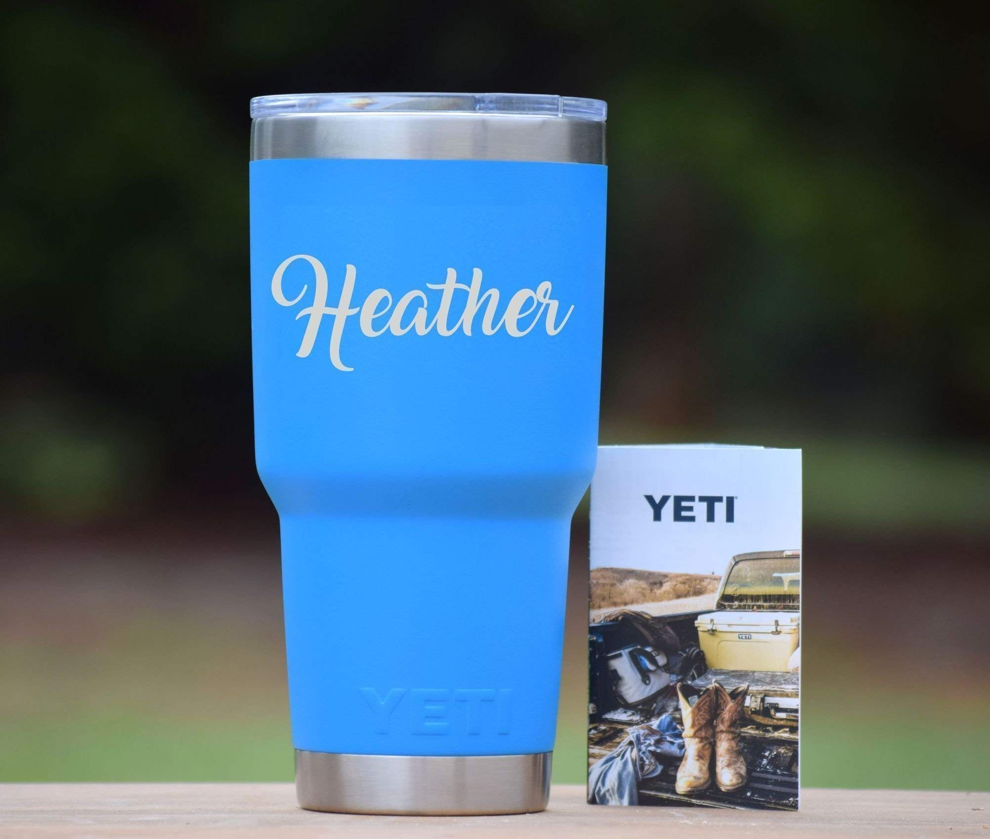 Personalized Yeti Tumbler Additional Colors Available- Engraved Yeti Rambler - 20 oz Yeti - 30 oz Yeti - Personalized Yeti - Yeti Gift - Laser Engraved Yeti - Yeti Tumbler - Yeti Cup - Yeti for Men