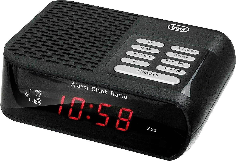 Bianco 14x4.4x11.4 cm Trevi RC 827 D Radiosveglia AM//FM