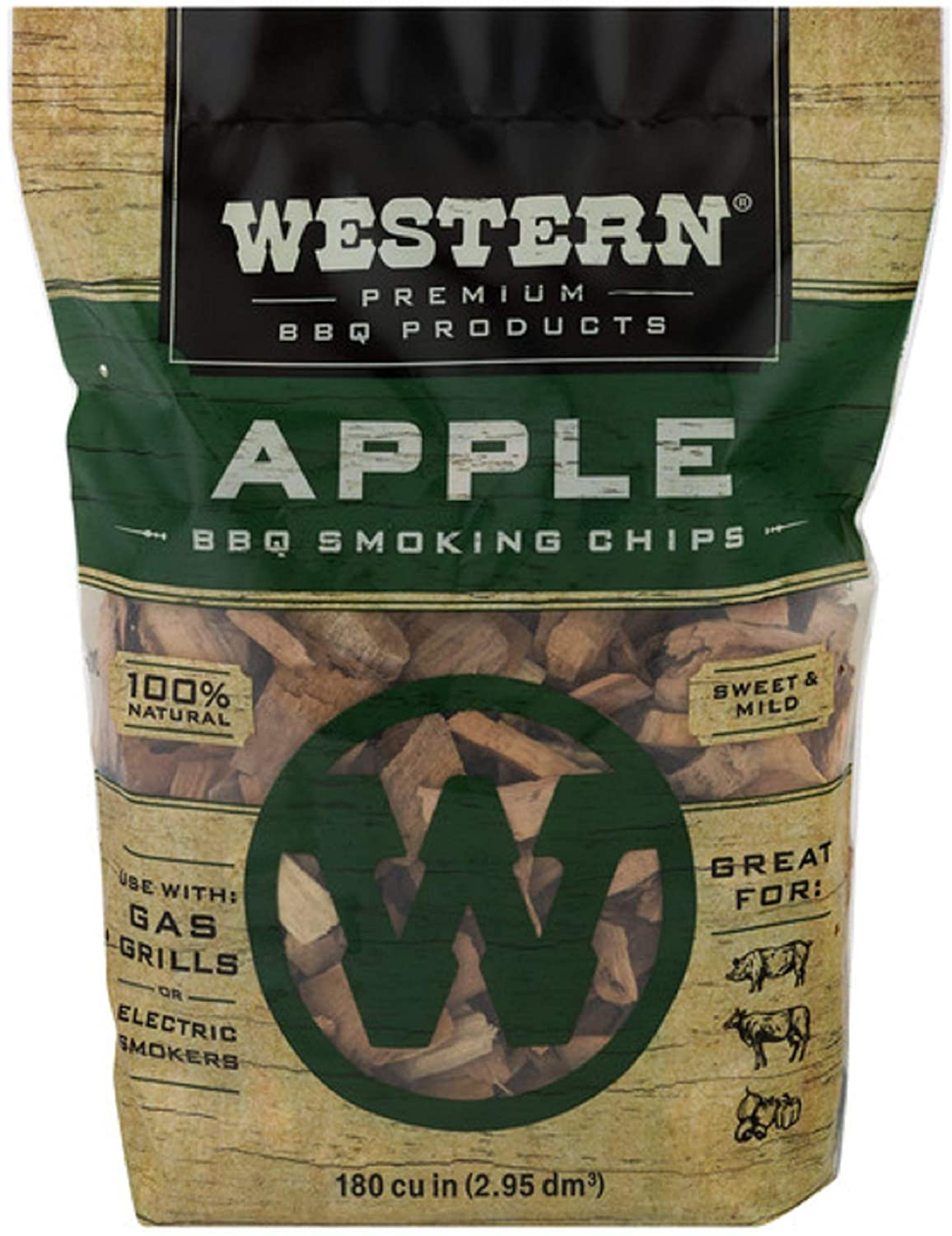 Western Premium BBQ Smoking Chips, Apple BBQ : Smoker Chips : Garden & Outdoor
