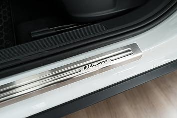 Tuning-Art EX136 Acero inoxidableplacas de umbral del Coche con Exclusive Logo: Amazon.es: Coche y moto