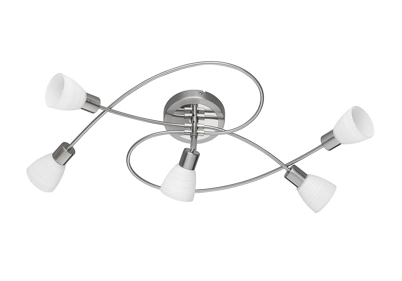 Nichel 3.5 W 10 cm G9 Trio Leuchten Trio 871570107 Carico Faretto LED Wandspot