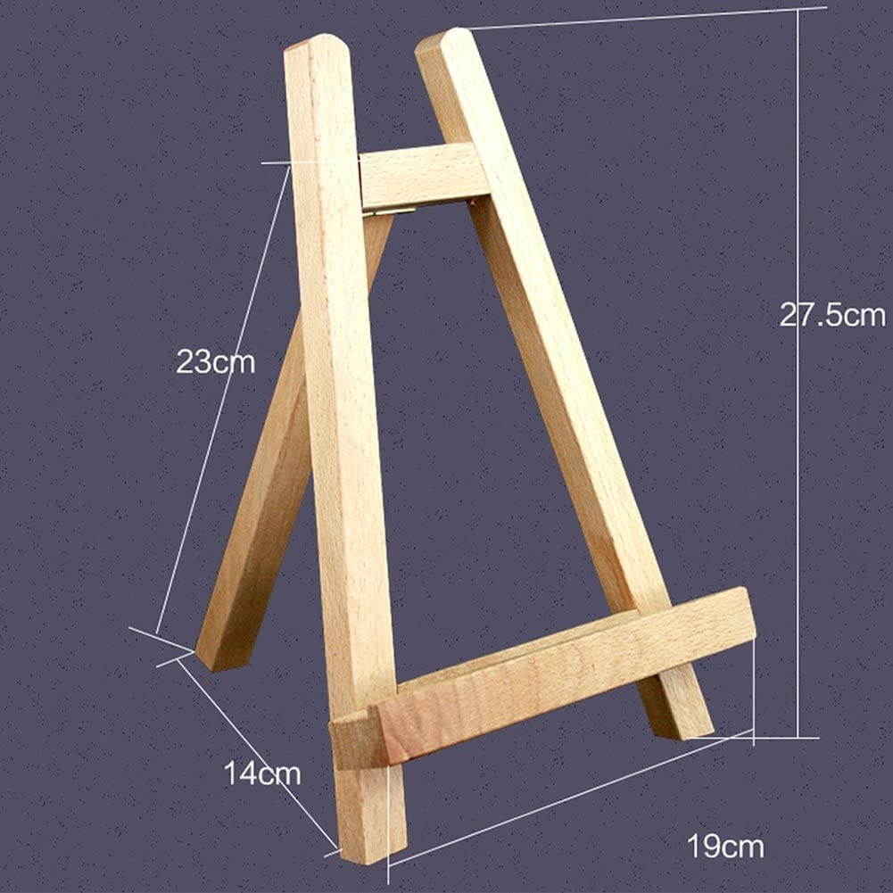 Amyove Triangle Small Tabletop Wood Sketching Easel Display Showing Stand Artist A-Frame Easel Art Supply