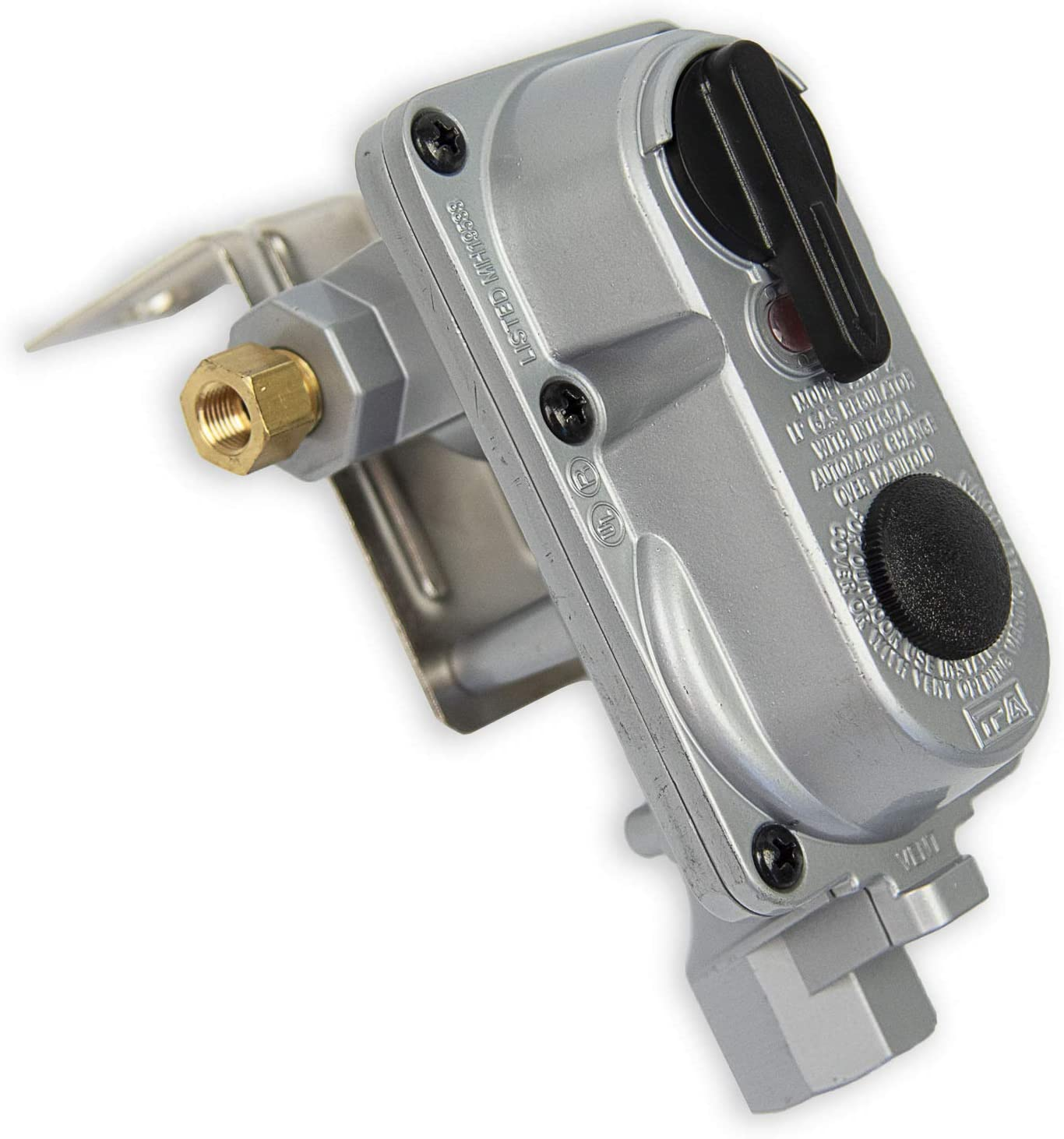 Flame King Without Pigtails 2-Stage Auto Changeover LP Propane Gas Regulator For RVs Trailers ACR6 Vans