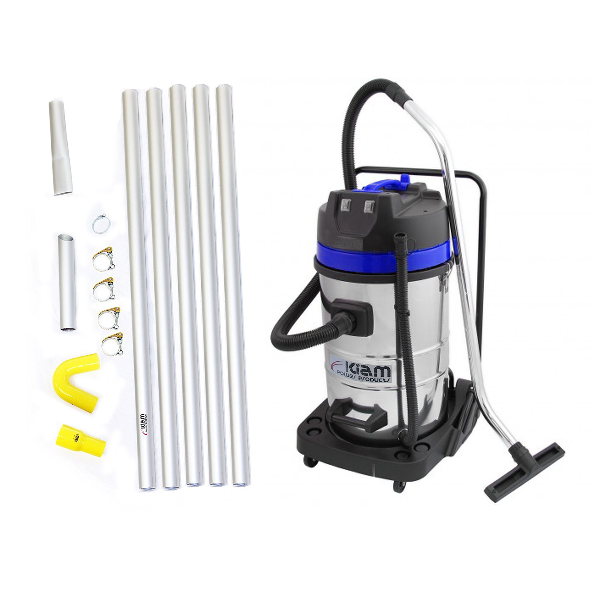 GutterProVac 20ft (2 Story) Commercial Gutter Cleaning Vacuum System, Professional Equipment and Dual Motor, 2.7 HP, Industrial Wet & Dry Vacuum Cleaner and Aluminium Gutter Cleaning Poles by Maxxus Industries (Image #9)