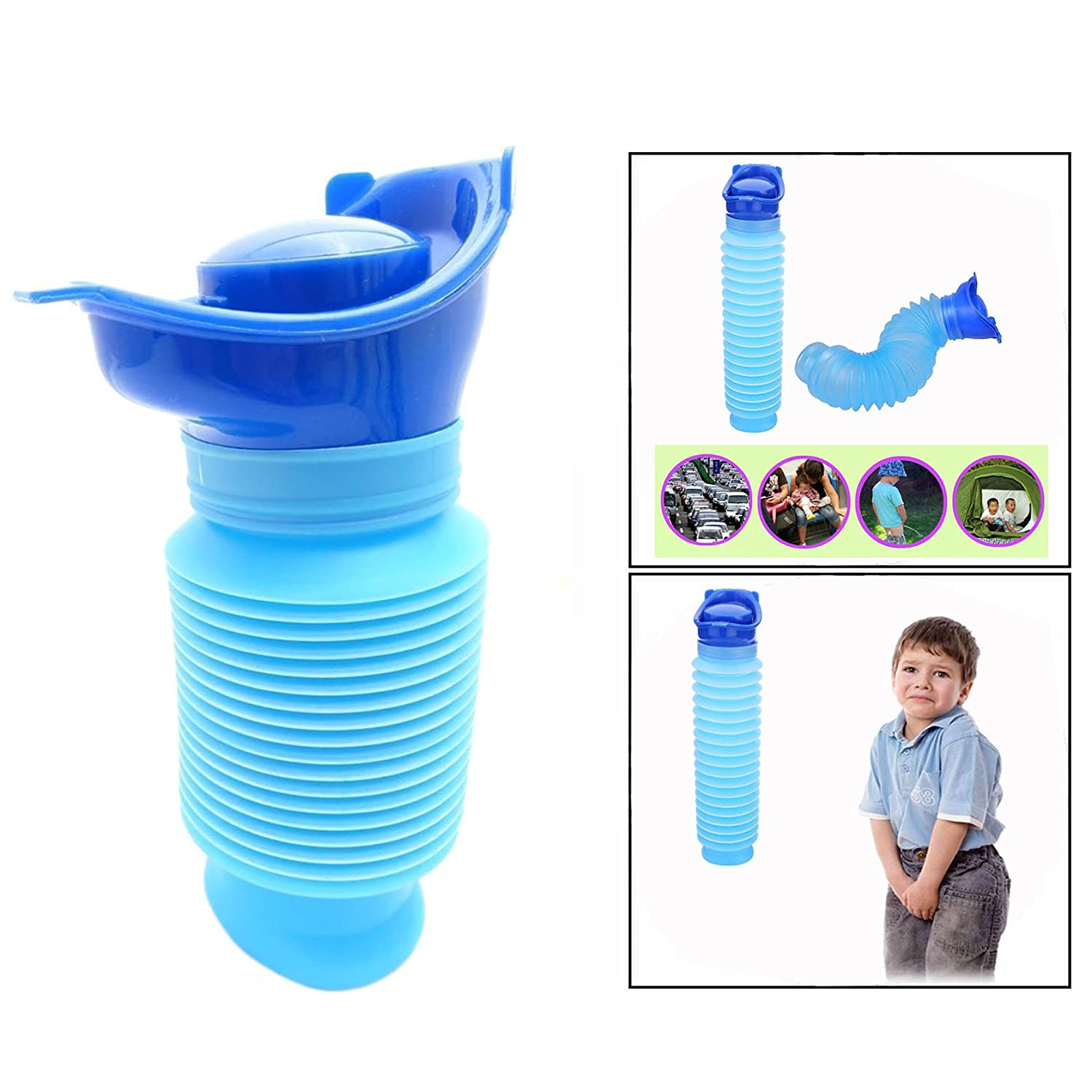 OFKPO Emergency Urinal Unisex Baby Flexible Urinal Potty Bottle Mobile Toilet Potty For Outdoor Camping Travel (750ml)