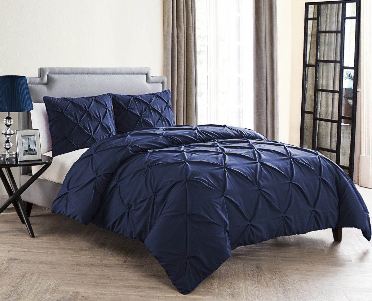 VCNY Home Carmen Comforter Set King Navy 4 Piece