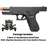 Umarex Glock 17 Package Glock 17 Gas blowback airsoft pistol with 5000 .20g Smith & Wesson bb's