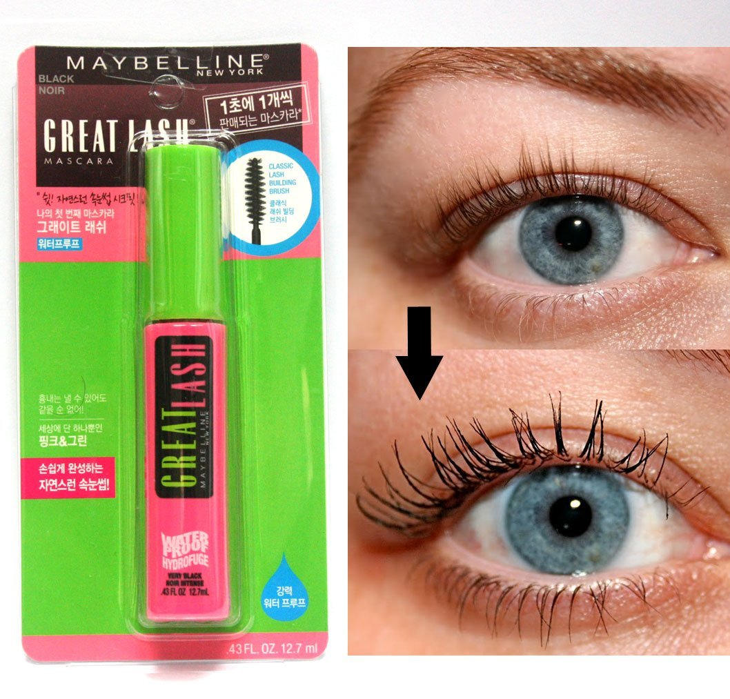 6728ee64a29 Amazon.com : Maybelline Great Lash Waterproof Mascara, Very Black- .44  Fluid Ounce : Body Scrubs : Beauty