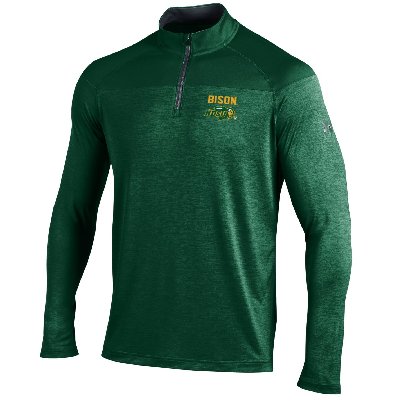 Dark Green Small Under Armour NCAA North Dakota State Mens Tech 1//4 Zip Tee