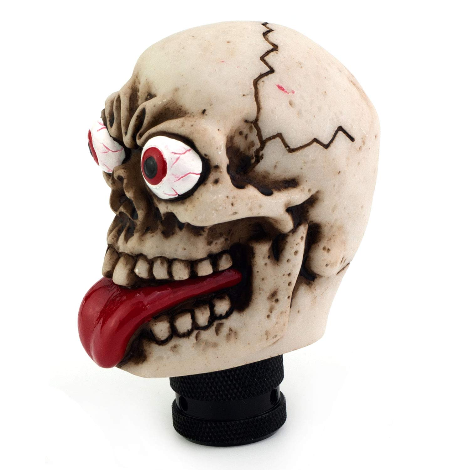 Thruifo Skull Gear Car Shift Knob Funny Grimace Style MT Stick Shifter Head Fit Most Manual Automatic Vehicles