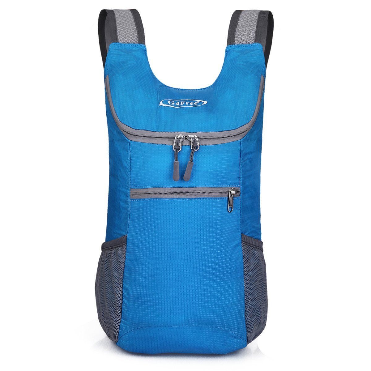 G4Free Lightweight Packable Shoulder Backpack Hiking Daypacks Small Casual Foldable Camping Outdoor Bag for Adults Kids 11L(Blue) by G4Free (Image #2)