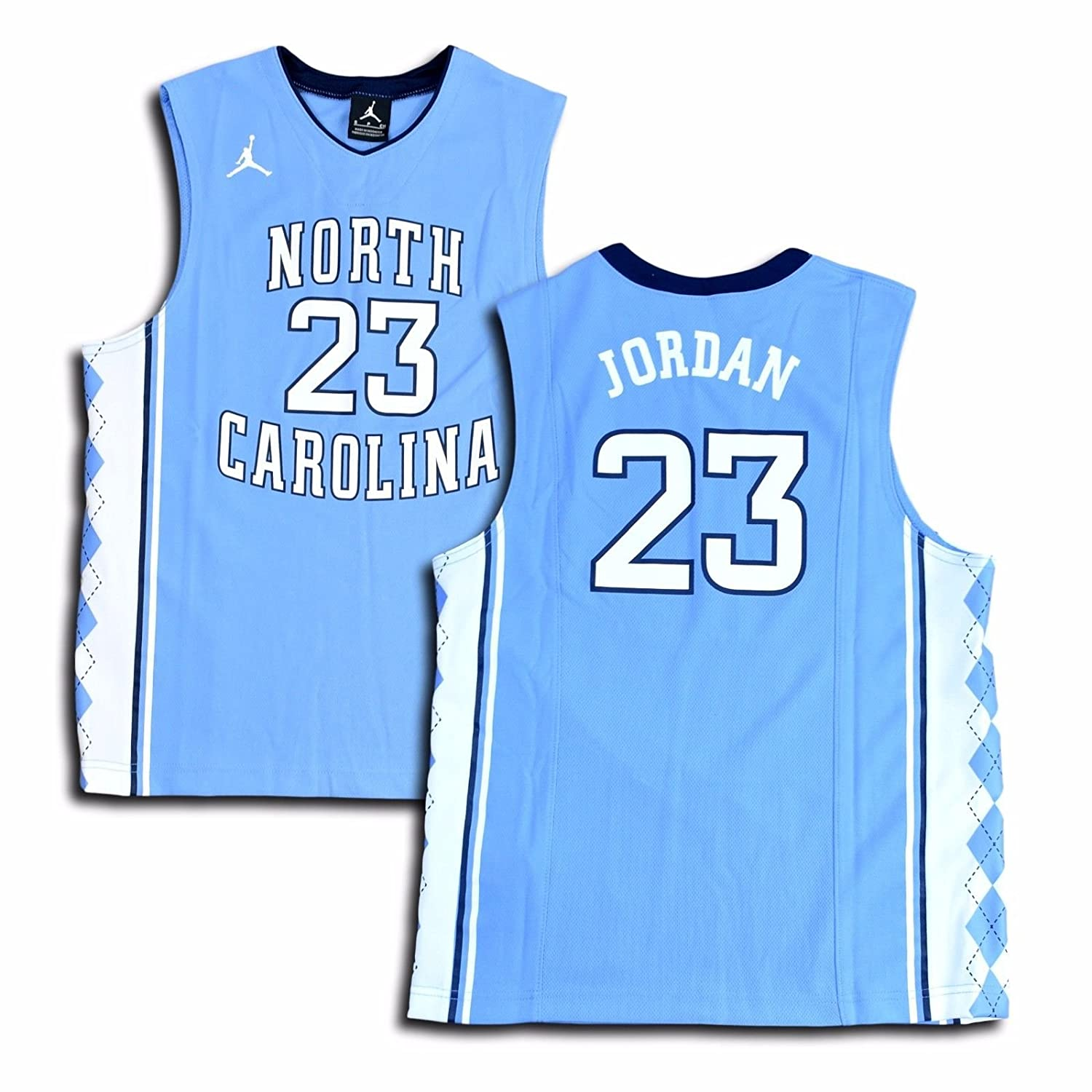 buy popular b6780 69479 NIKE Jordan Big Boys' (Youth) UNC North Carolina Tar Heels Replica Jersey  Michael Jordan #23