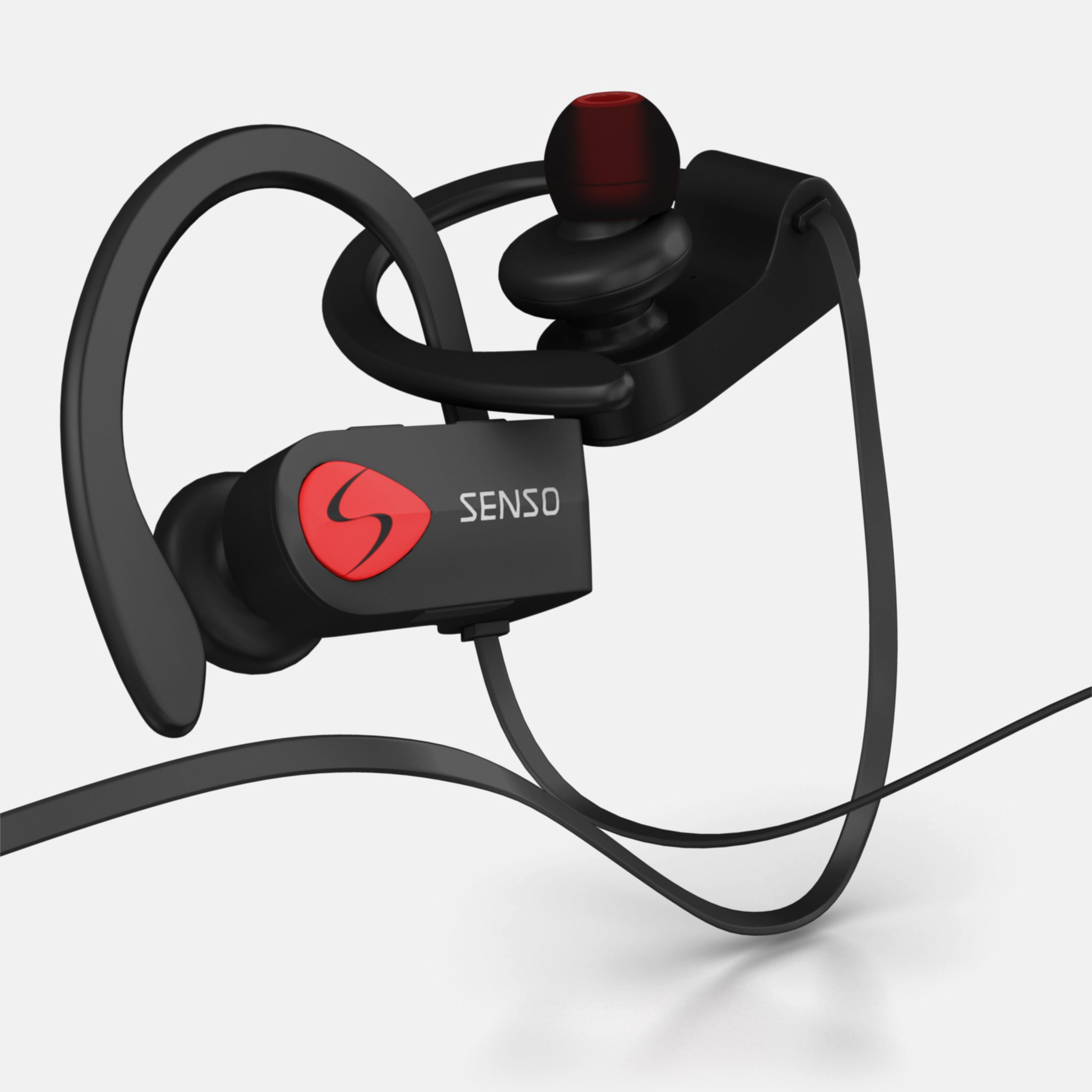 SENSO Bluetooth Headphones, Best Wireless Sports Earphones w/Mic IPX7 Waterproof HD Stereo Sweatproof Earbuds for Gym Running Workout 8 Hour Battery Noise Cancelling Headsets by Senso (Image #9)