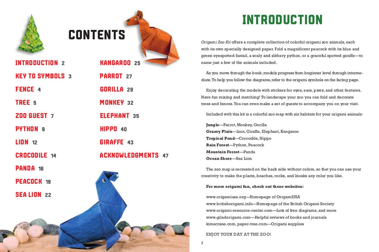 Amazon Origami Zoo Kit Make A Complete Of Animals With Book 15 Projects 40 Papers 95 Stickers Fold Out Map