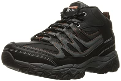 Skechers Sport Men's Afterburn M. Fit Mid Oxford,Black/Charcoal,6.5 M