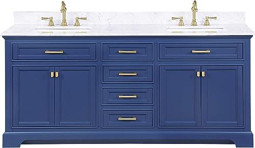 Design Element ML-72-BLU Milano 72″ Blue Bathroom Vanity