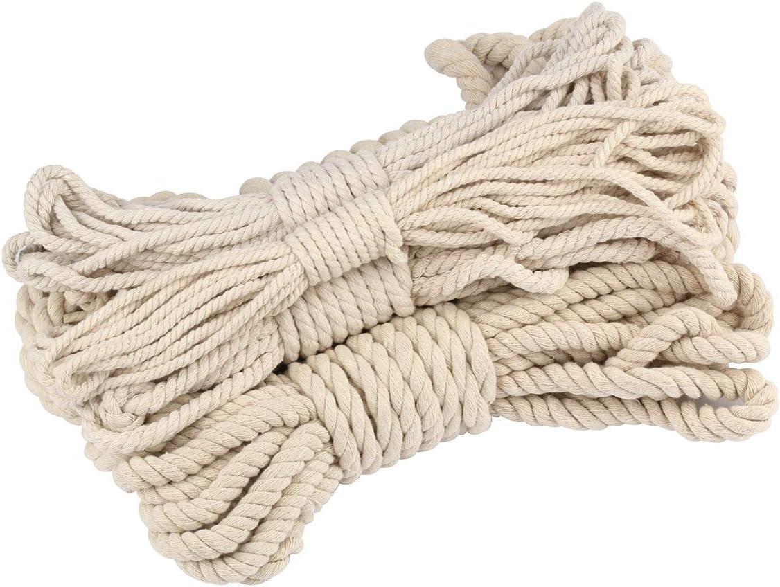 10 m de cuerda de macramé de algodón natural para colgar en la ...