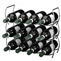 Viscio Trading 171532 Stackable Chrome Wine Rack, Steel, Silver, 13 x 40 x 40 cm