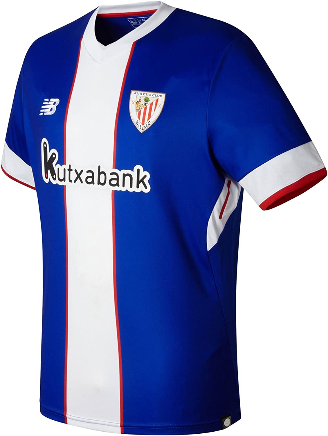 Camiseta New Balance AC Bilbao MC 3ª 2017-2018 Azul-Blanco: Amazon ...